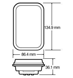 lighttruck lite 45 series 135x86mm rectangular led rear fog light [ 1500 x 1500 Pixel ]