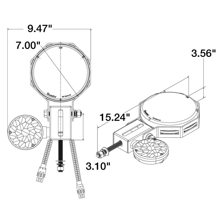 truck lite led headlight wiring diagram 1996 isuzu rodeo engine 80880 round snow plow light kit 23