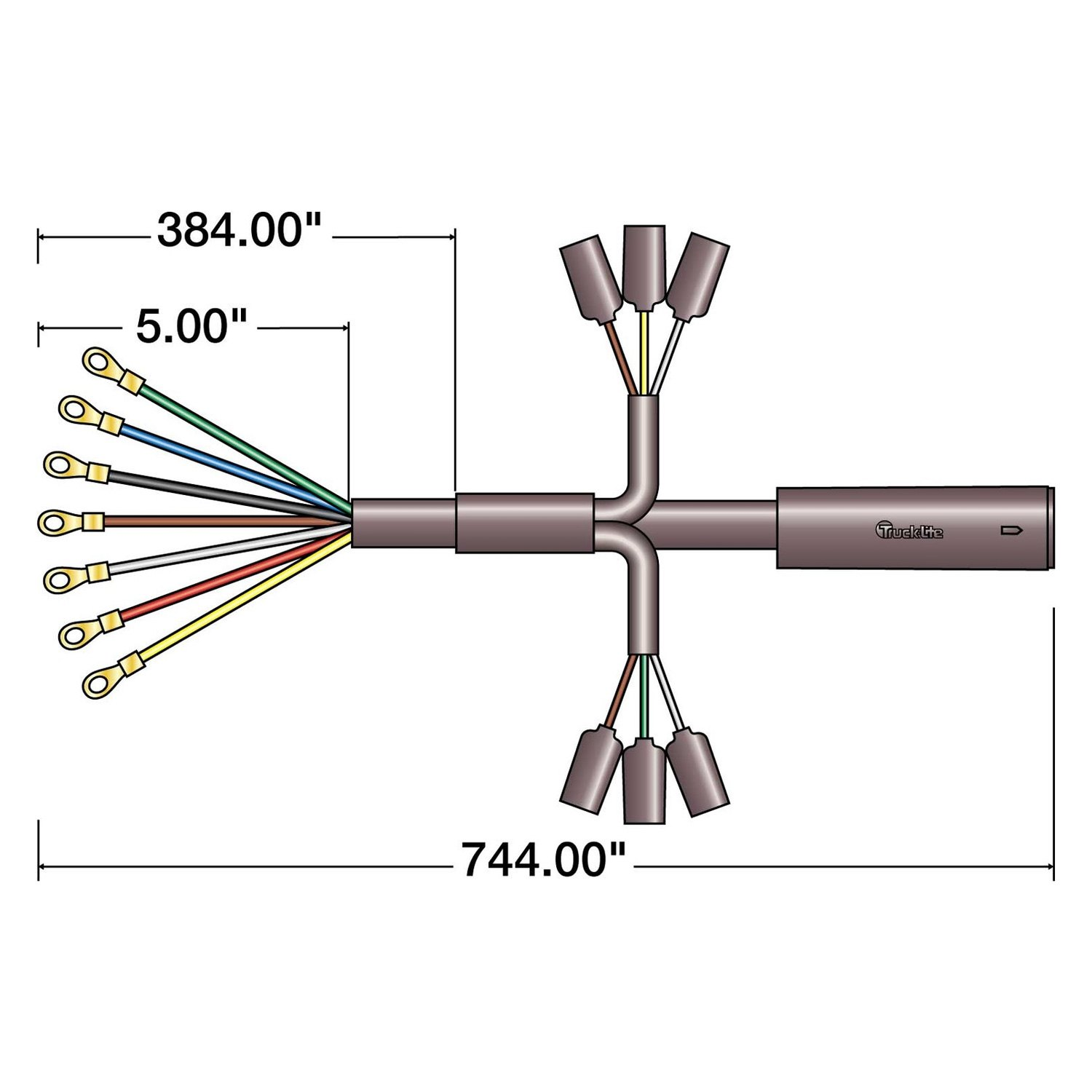 truck lite wiring diagram consort template 88750 88 series 744 quot 7 plug main cable