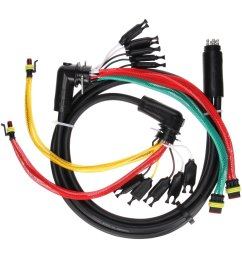 truck lite 88 series 55 rear 15 plug license and turn signal wiring harness with stop turn tail and marker clearance and auxiliary and tail  [ 1500 x 1500 Pixel ]