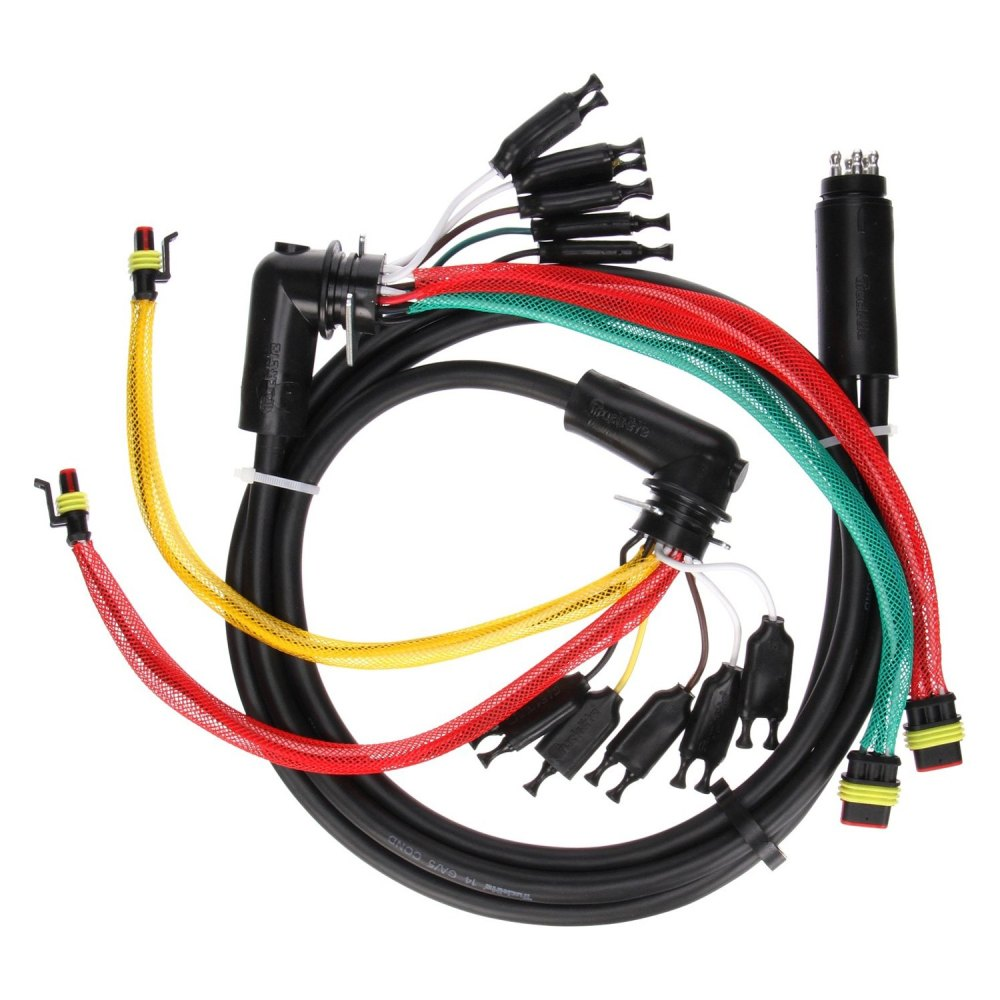 medium resolution of truck lite 88 series 55 rear 15 plug license and turn signal wiring harness with stop turn tail and marker clearance and auxiliary and tail
