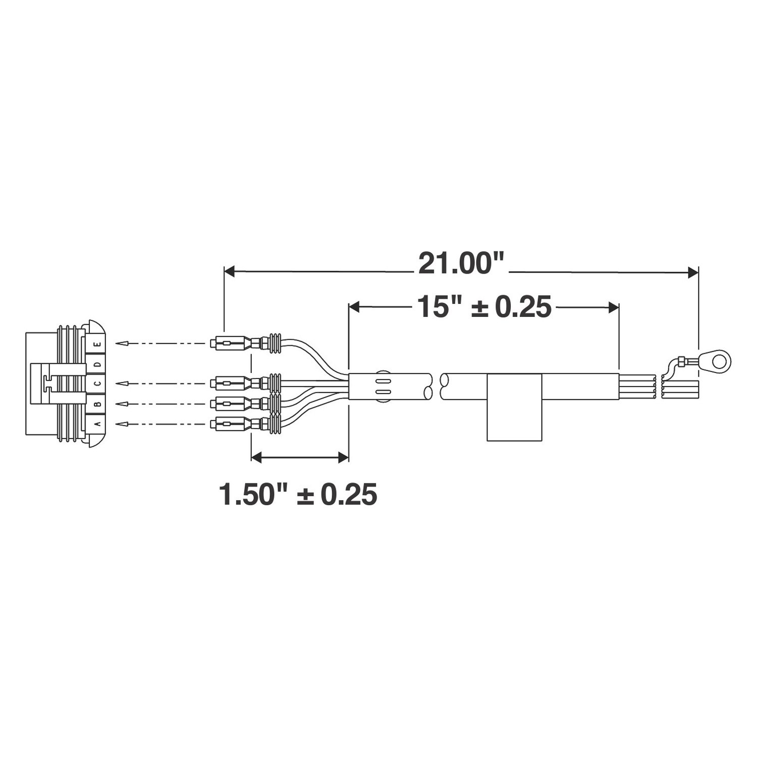 truck lite 97300 wiring diagram 2010 ford f150 stereo 9464 signal stat 21 quot 1 plug 4 wire connector