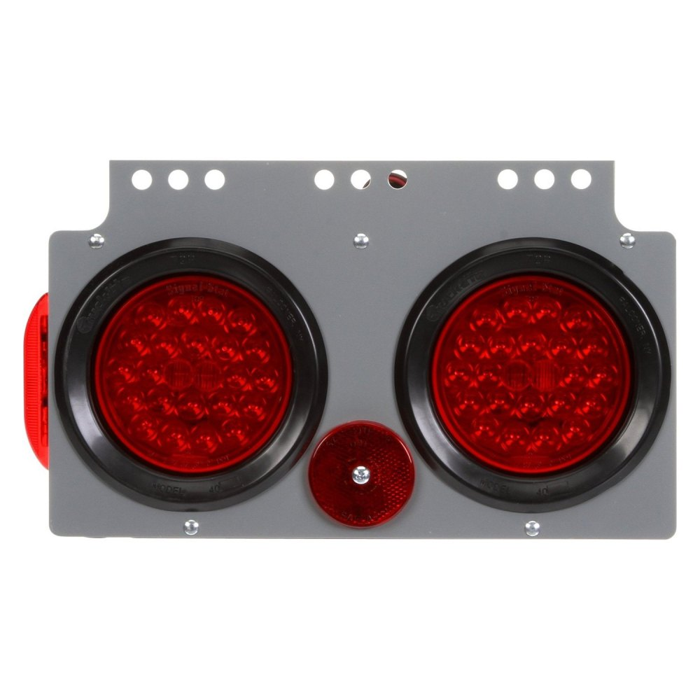 medium resolution of truck lite signal stat round bracket mount led tail light