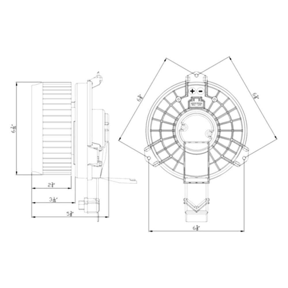 For Honda Civic 2013-2015 TYC HVAC Blower Motor
