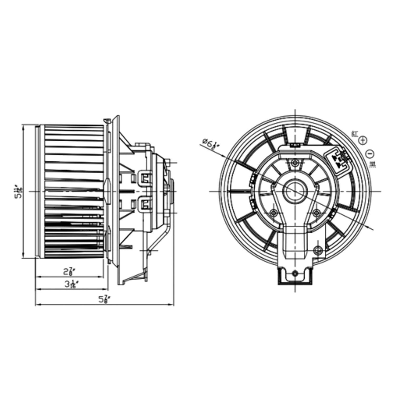 For Ford Explorer Tyc Hvac Blower Motor