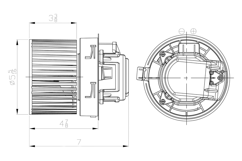 For Nissan Sentra Tyc Hvac Blower Motor