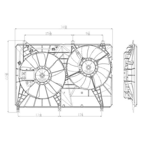 For Mitsubishi Endeavor 2004-2008 TYC Dual Radiator