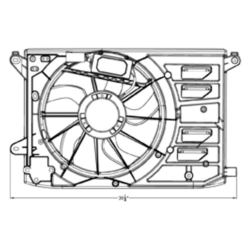 For Ford Fusion 2013-2018 TYC Dual Radiator & Condenser