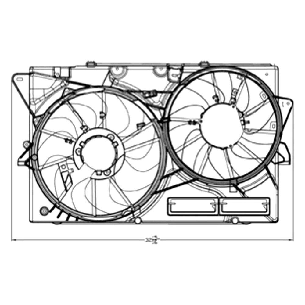 For Ford Taurus 2013-2018 TYC 623040 Dual Radiator