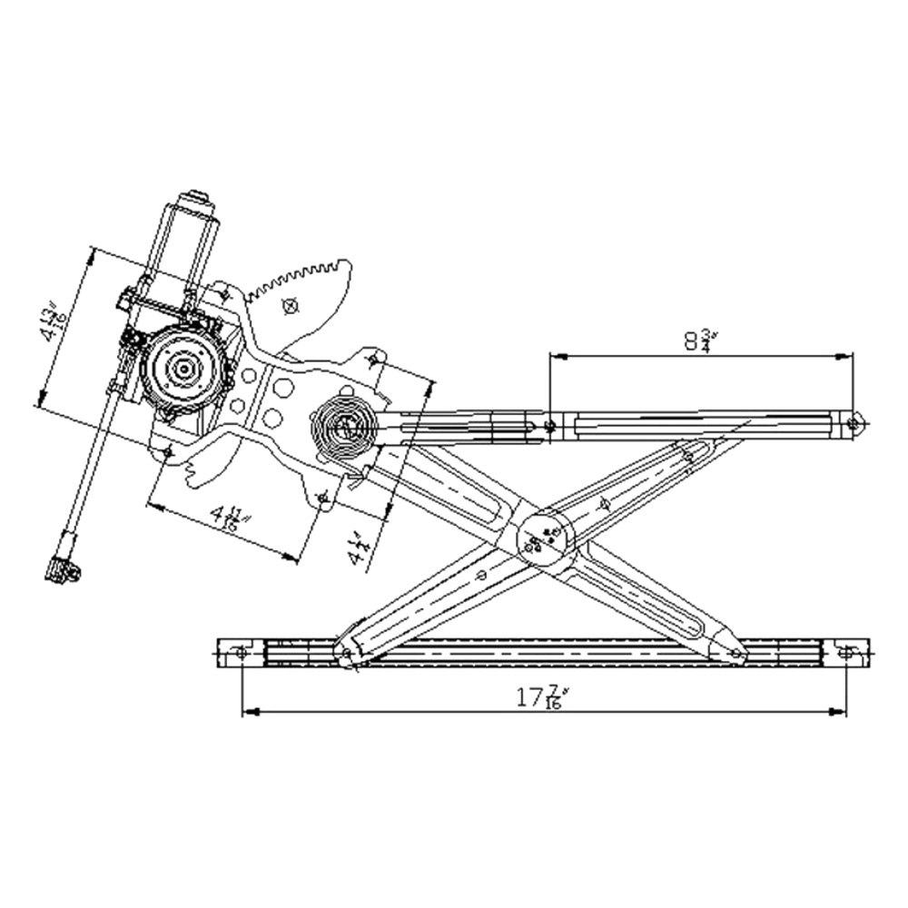 For Toyota Sienna 98-03 Window Regulator and Motor