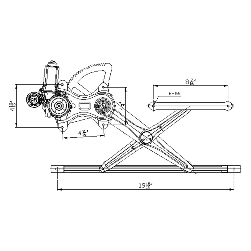 For Toyota Camry 02-06 Window Regulator and Motor Assembly