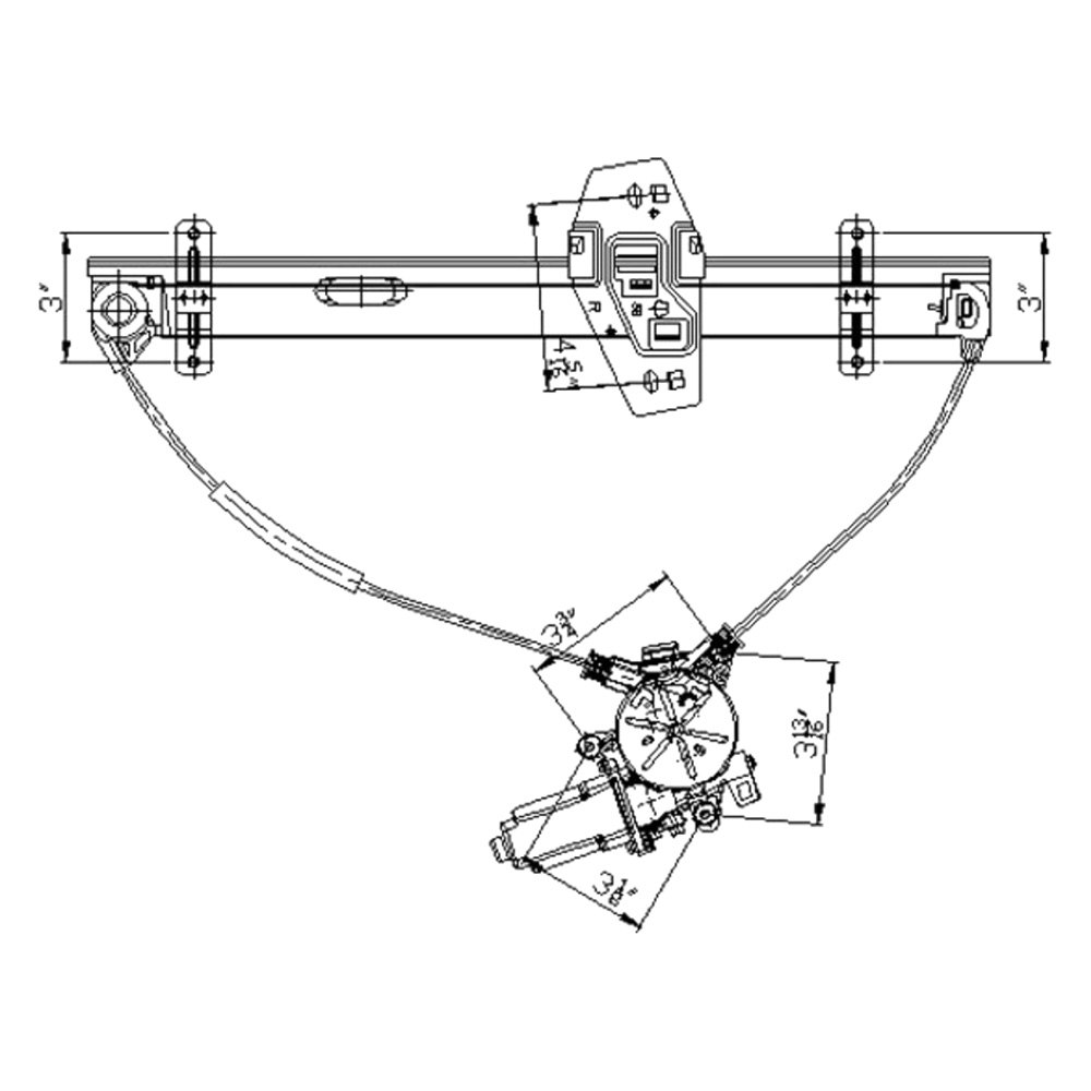 For Honda Element 03-10 Window Regulator and Motor