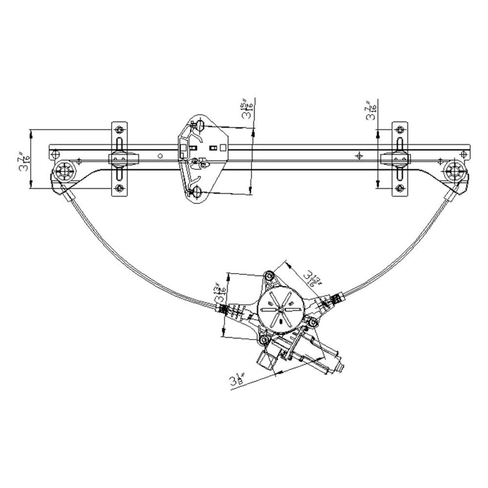For Honda Odyssey 05-10 Window Regulator and Motor