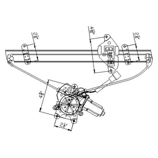For Mitsubishi Lancer 04-07 Window Regulator and Motor