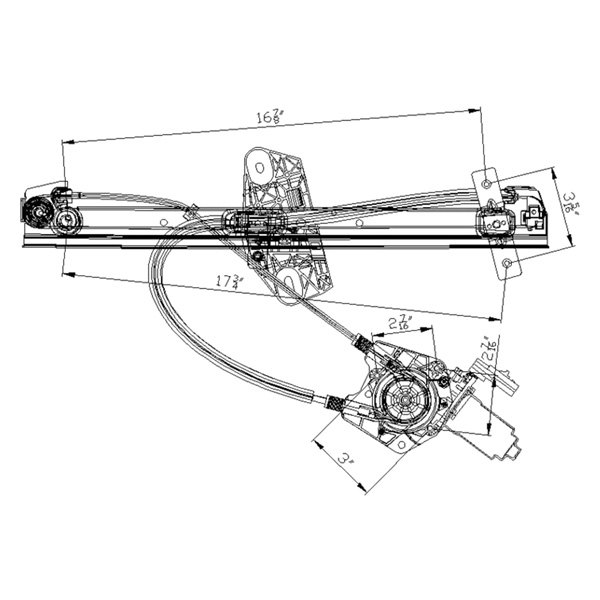 For Dodge Neon 02-05 Window Regulator and Motor Assembly