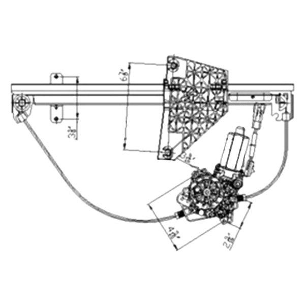 For Jeep Grand Cherokee 01-04 Window Regulator and Motor