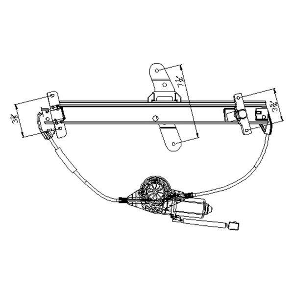 For Ford Crown Victoria 92-11 Window Regulator and Motor