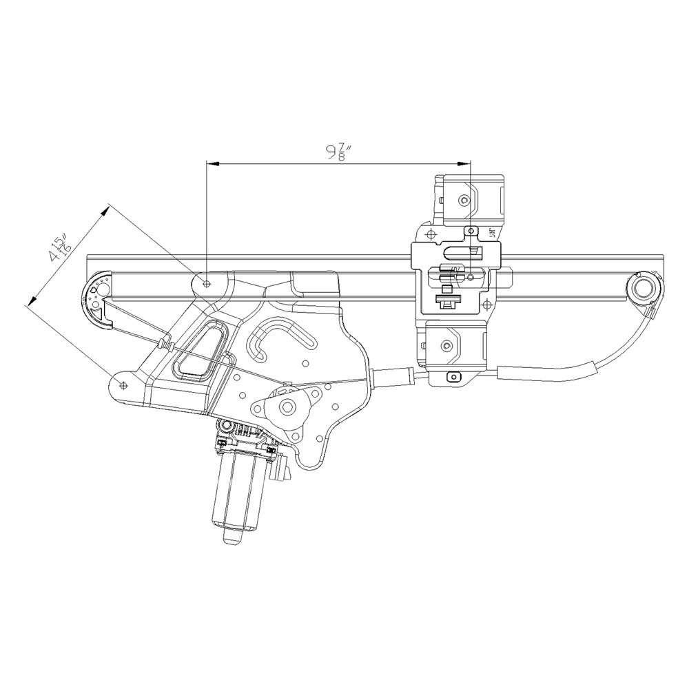For Buick LeSabre 00-05 Window Regulator and Motor