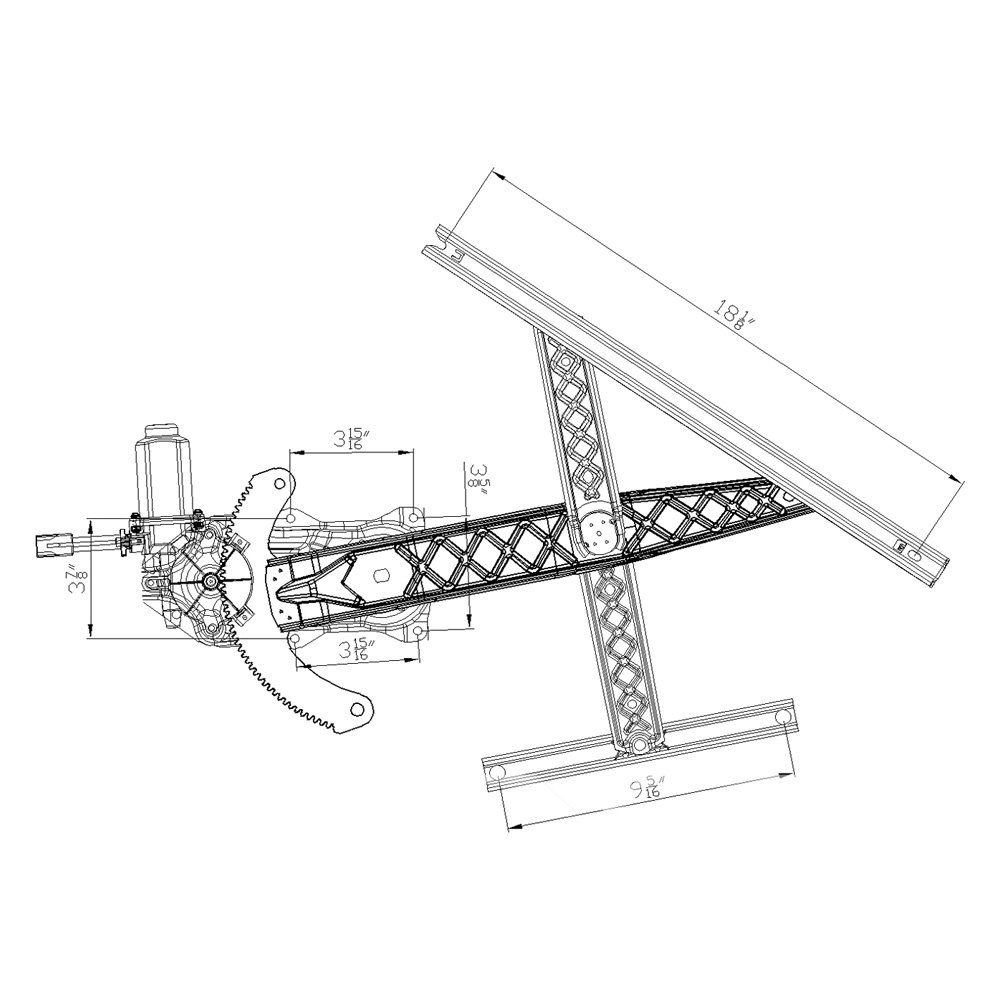 For Ford F-150 01-03 Window Regulator and Motor Assembly