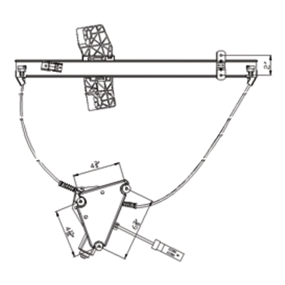 For Jeep Liberty 02-06 Window Regulator and Motor Assembly