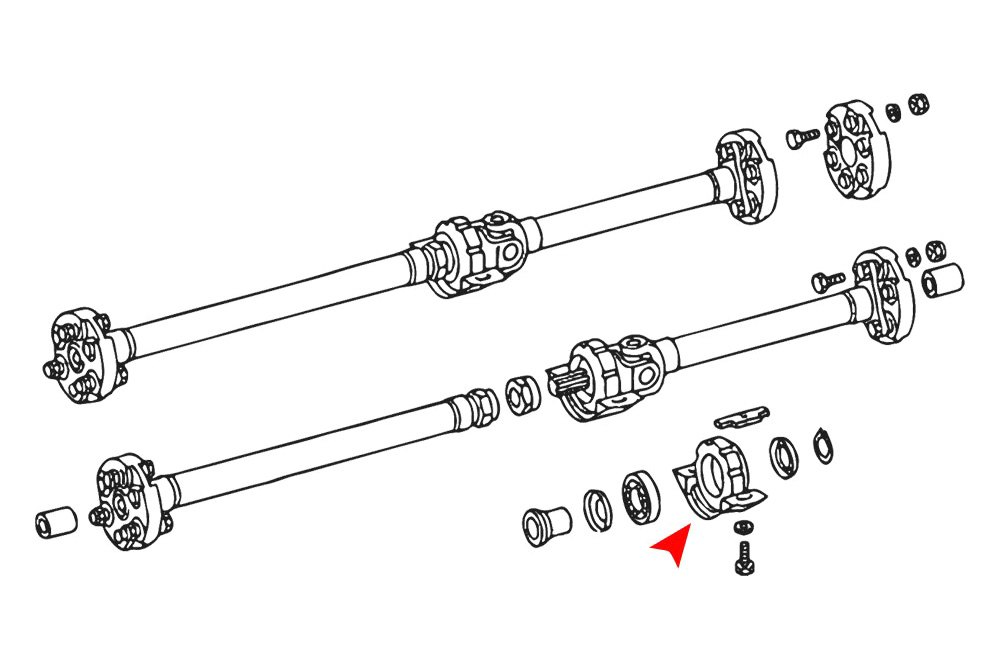 For Mercedes-Benz 300CD 1978-1985 URO Parts Driveshaft