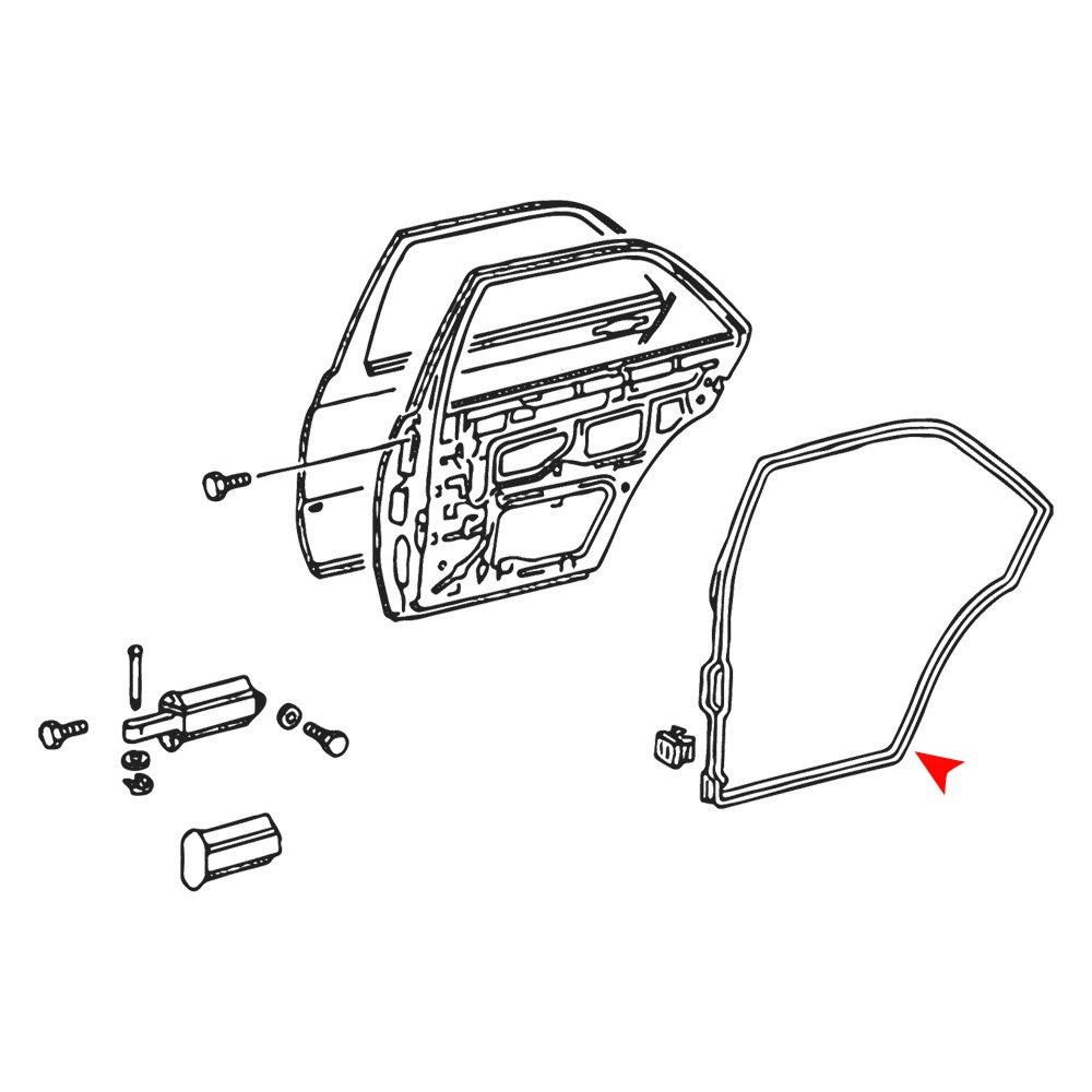 For Mercedes-Benz 190E 1984-1993 URO Parts 2017300778 Rear