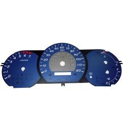 us speedo tac074 daytona edition gauge face kit with amber night lettering color blue [ 1500 x 1500 Pixel ]