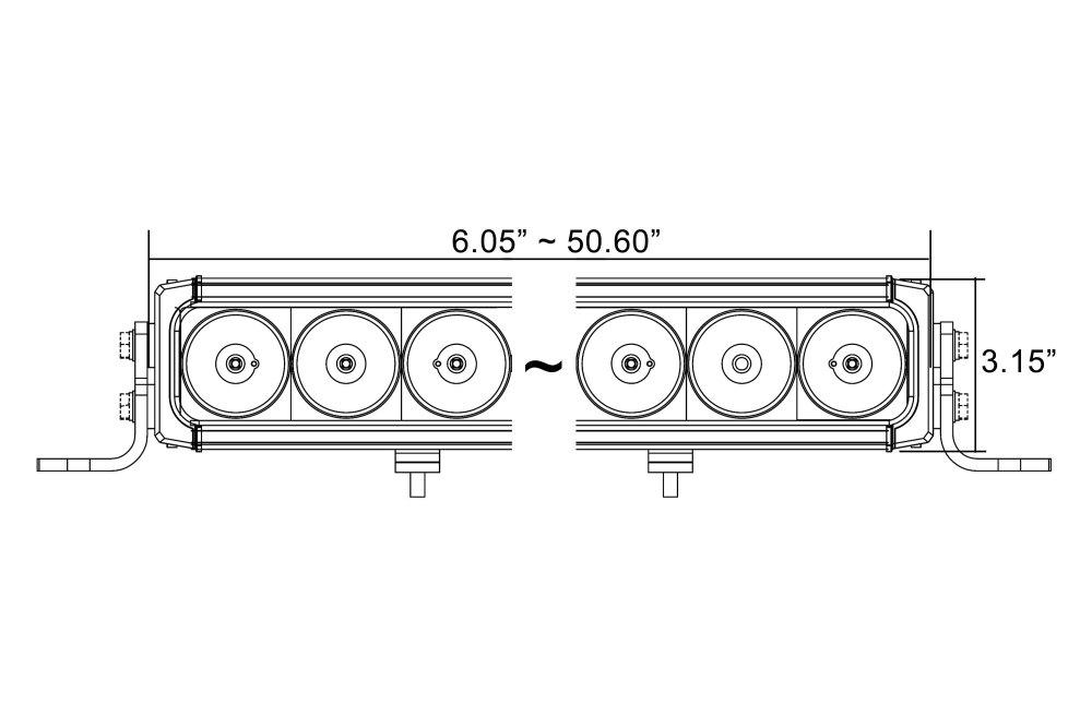 medium resolution of  x xpi 35 90w mixed beam led light bar