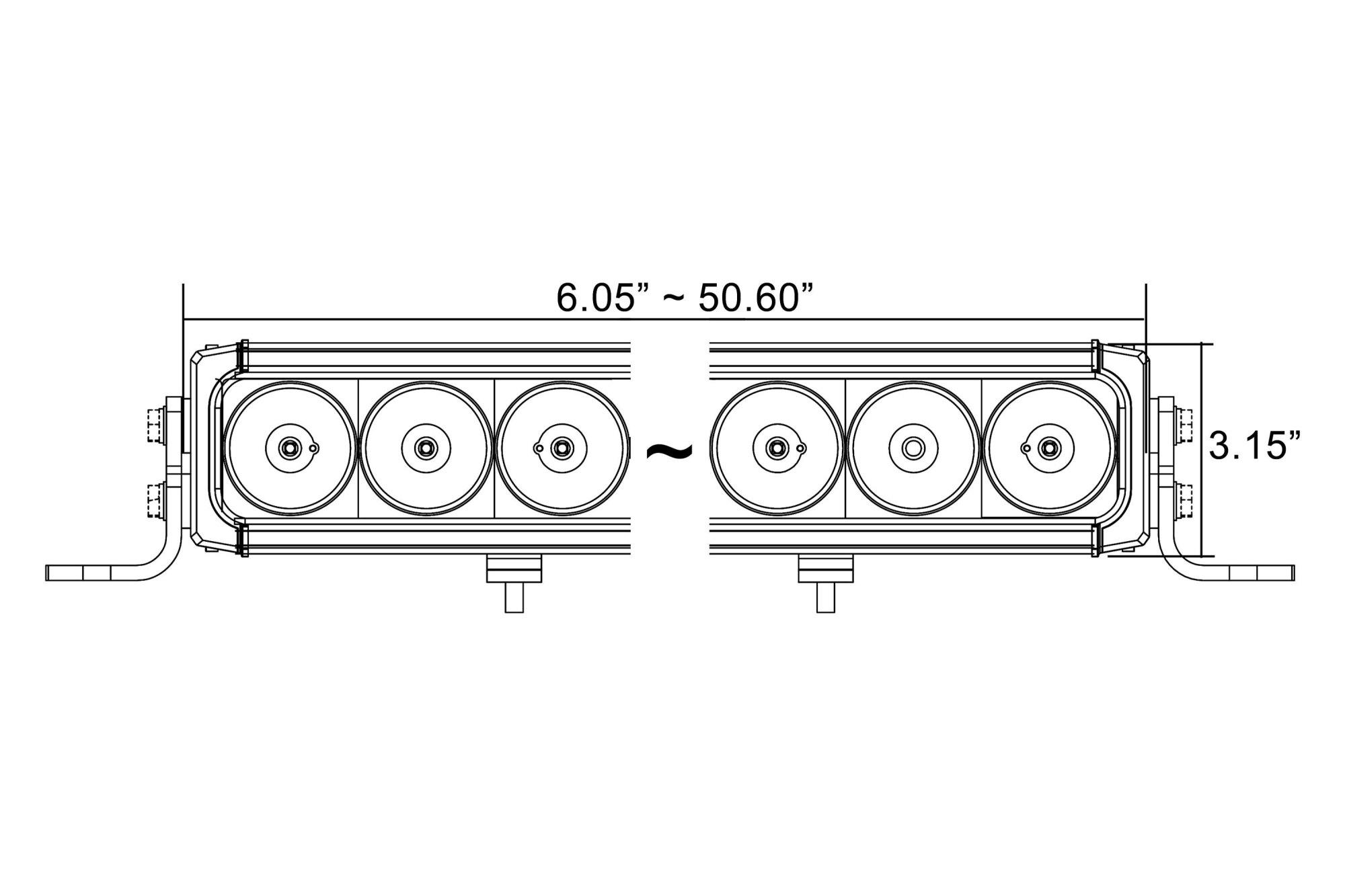 hight resolution of  x xpi 35 90w mixed beam led light bar