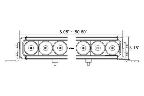 small resolution of  x xpi 35 90w mixed beam led light bar