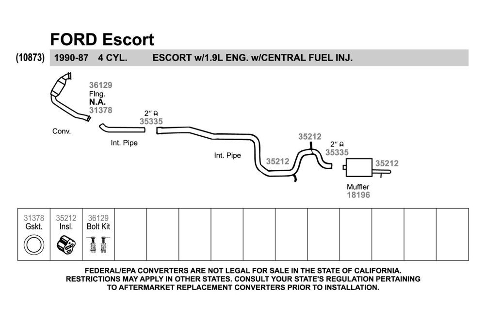 medium resolution of 1990 ford tempo exhaust system diagram electrical wiring diagram ford escape exhaust diagram ford zx2 exhaust