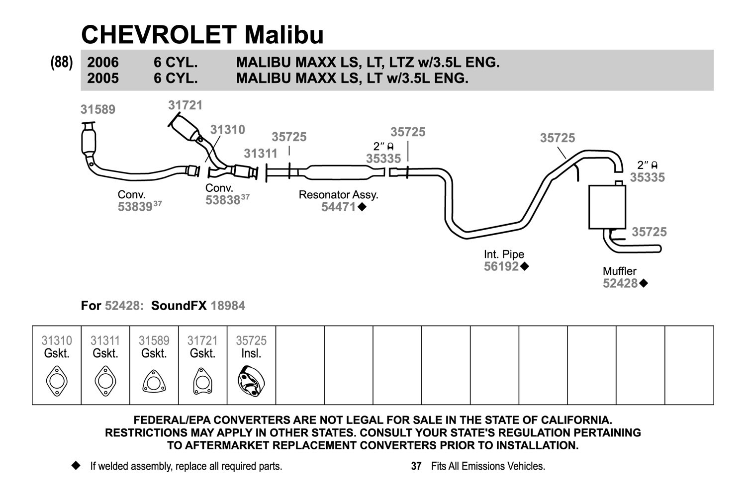 Exhaust System Diagram Motor Repalcement Parts And Diagram