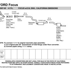 2002 Ford Escape Exhaust Diagram 2003 Honda Civic Headlight Wiring Walker System 2005 Focus Auto