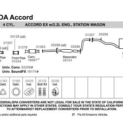 walker honda accord 1996 replacement exhaust kit honda accord parts diagram moreover 2003 honda accord exhaust system [ 1500 x 1000 Pixel ]