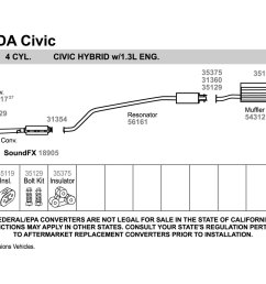 diagram of honda civic exhaust system wiring diagram expert 2000 honda civic lx exhaust diagram [ 1500 x 1000 Pixel ]