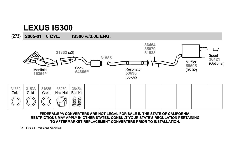 lexus rx300 exhaust system diagram 2007 ford f150 radio wiring catalytic converter schematic