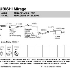 mitsubishi mirage engine diagram [ 1500 x 1000 Pixel ]