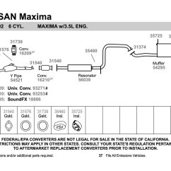 Nissan Pathfinder Exhaust System Diagram 1966 Vw Bus Wiring Walker 54521 Aluminized Steel Y Pipe