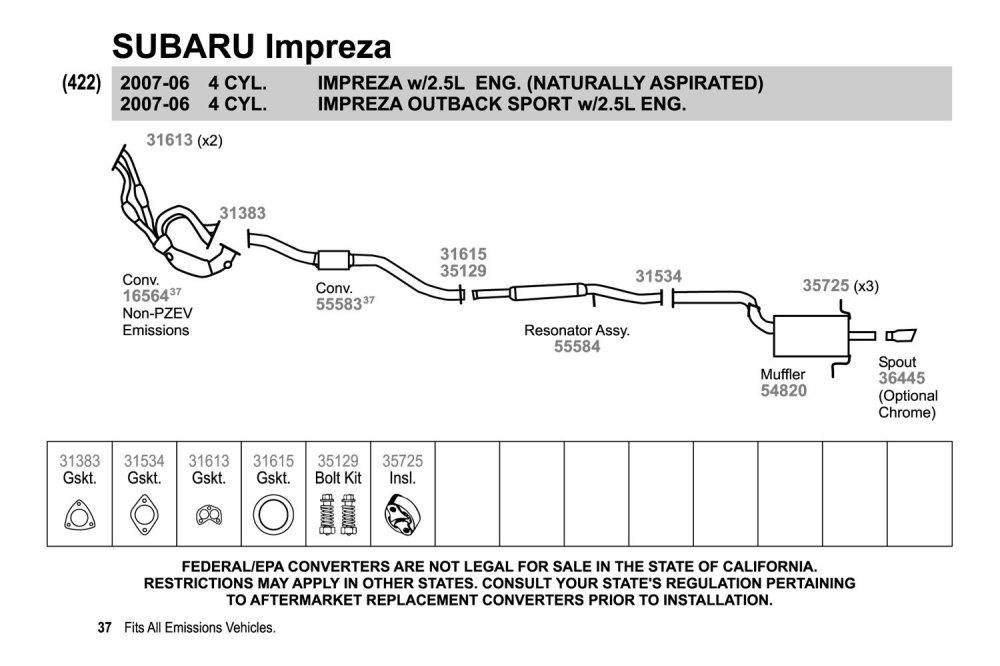 medium resolution of 2007 subaru impreza exhaust diagram schematic diagram database 1997 subaru forester exhaust diagram