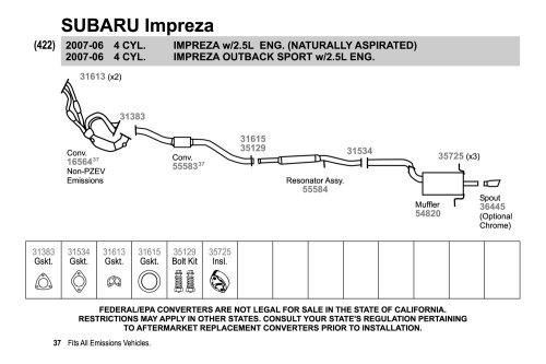 small resolution of 2007 subaru impreza exhaust diagram schematic diagram database 1997 subaru forester exhaust diagram