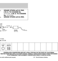 2003 suzuki xl7 catalytic converter diagram diy enthusiasts wiring rh okdrywall co suzuki xl7 battery location [ 1500 x 1000 Pixel ]