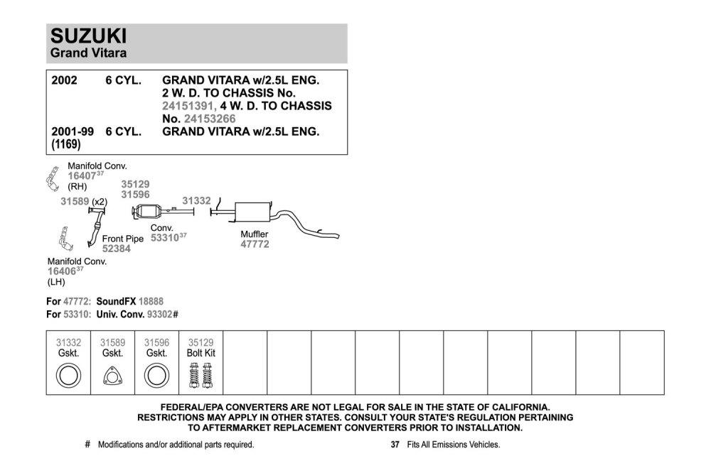 medium resolution of 2003 suzuki xl7 catalytic converter diagram diy enthusiasts wiring rh okdrywall co suzuki xl7 battery location