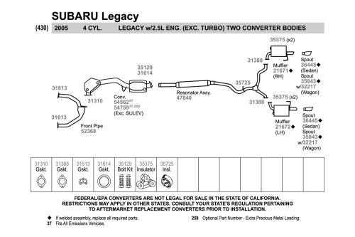 small resolution of subaru legacy engine subaru legacy outback exhaust diagram 2000 1997 subaru exhaust diagram wiring diagram data