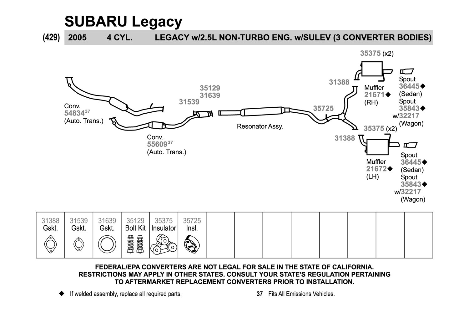 2000 subaru exhaust diagram ford expedition wiring legacy spare parts catalog viewmotorjdi org