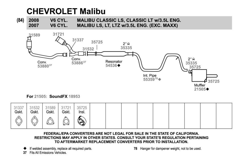 medium resolution of malibu exhaust diagram wiring diagram featured 2006 malibu exhaust diagram malibu exhaust diagram