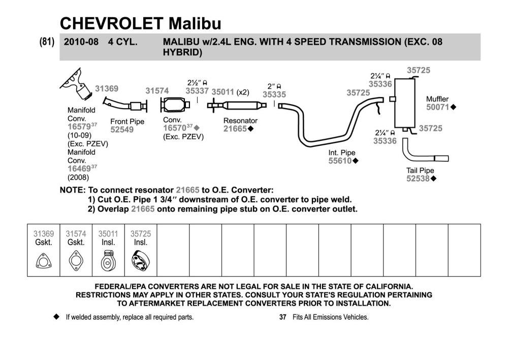 medium resolution of malibu exhaust diagram wiring diagram forward 2010 malibu exhaust diagram 2010 malibu exhaust diagram