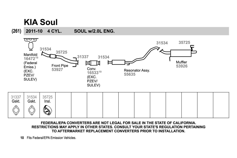 hight resolution of walker 2 bolt exhaust pipe flange gasket