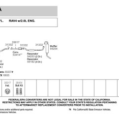 Toyota Rav4 Exhaust System Diagram Ford Escape Fuse Box 2001 Find Wiring