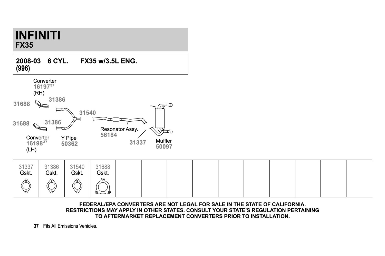 hight resolution of walker exhaust y pipewalker replacement exhaust kit