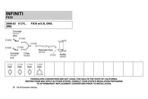 small resolution of walker exhaust y pipewalker replacement exhaust kit